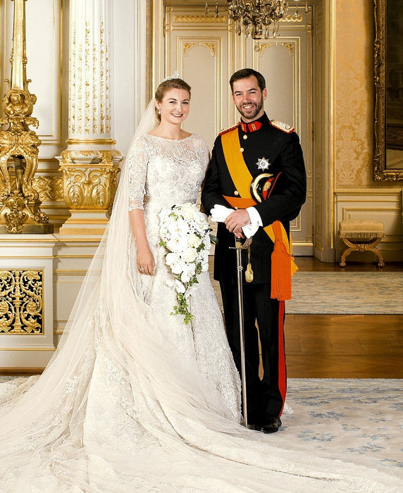 FAMEFLYNET - Official Wedding Pictures Of Princess Stephanie And Prince Guillaume Of Luxembourg