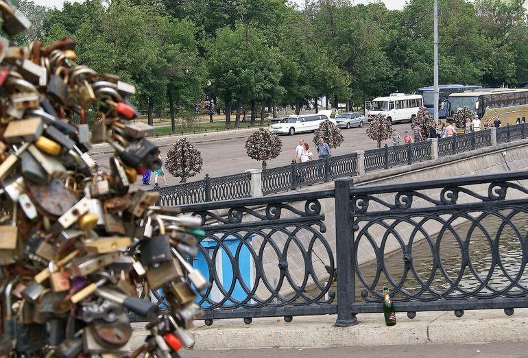 Мост Любви в Москве (Россия)