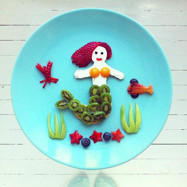 Вкусные картины на тарелках от Иды Скивенес
