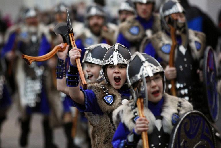 Апхеллио – огненный фестиваль викингов