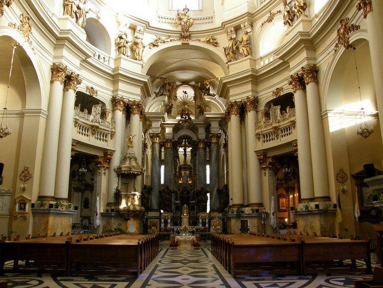 Храм Святой Евхаристии (Доминиканский собор) во Львове (Украина)