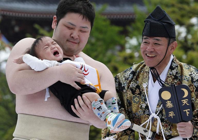 """""""Наки Сумо"""": фестиваль плачущих младенцев (Япония)"""