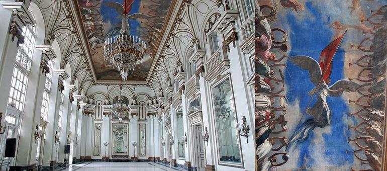 87 Cuba - Havana Centro - Museo de la Revolucion - Salon de los Espejos, Room of Mirrors