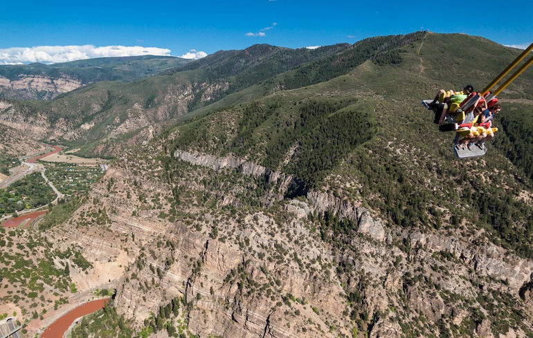 Giant Canyon Swing over the Colorado mountains