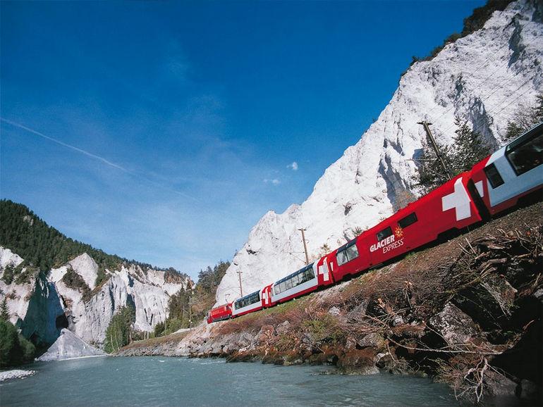 Ретийская железная дорога, швейцарские Альпы