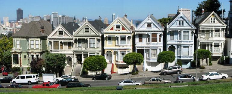 Викторианские домики в Сан-Франциско (США)