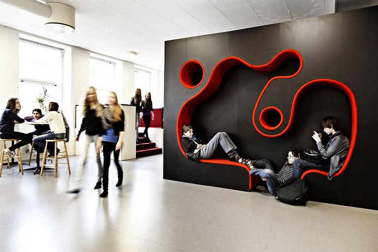 Современная школа Vittra Södermalm: ярко, весело, удобно (Швеция) • Terra-Z