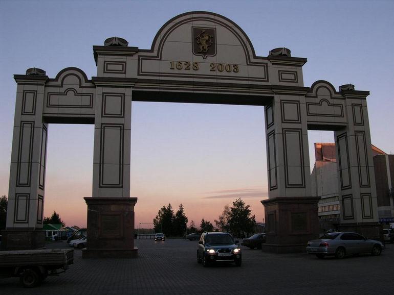 Триумфальная Арка Красноярска: частичка Парижа в Восточной Сибири (Россия)