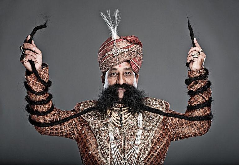Рам Сингх Чаухан: владелец самых больших усов на планете (Индия)