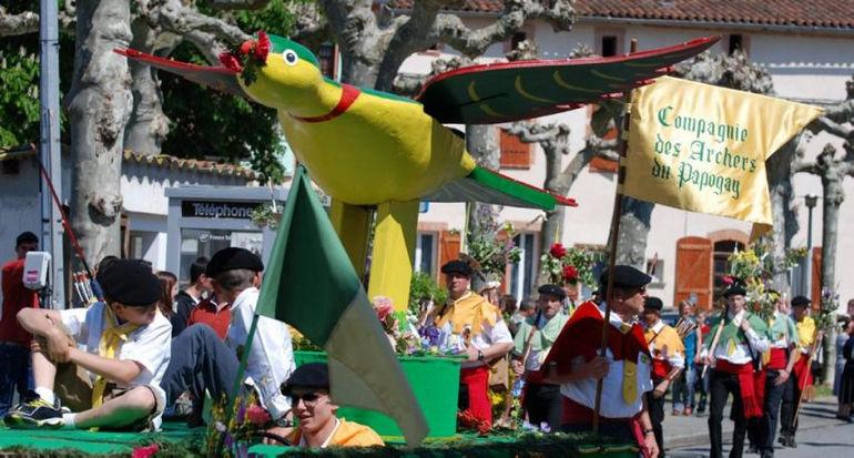Фестиваль попугая: возрожденная традиция Средневековья (Франция)