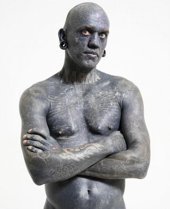 Лаки Даймонд: самый татуированный мужчина