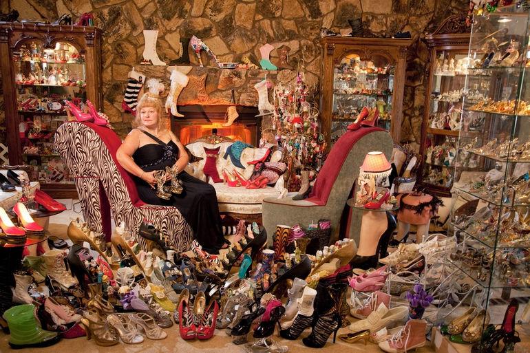 Дарлин Флинн: владелица самой большой коллекции обуви (США)
