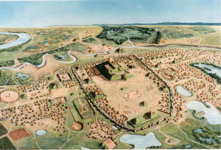 Cahokia Mounds Iseminger Painting