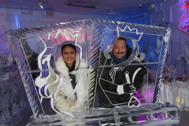 Minus5-Ice-Bar-Celebrity-Cocktail-with-Terry-Fator-with-Taylor-Makakoa-3