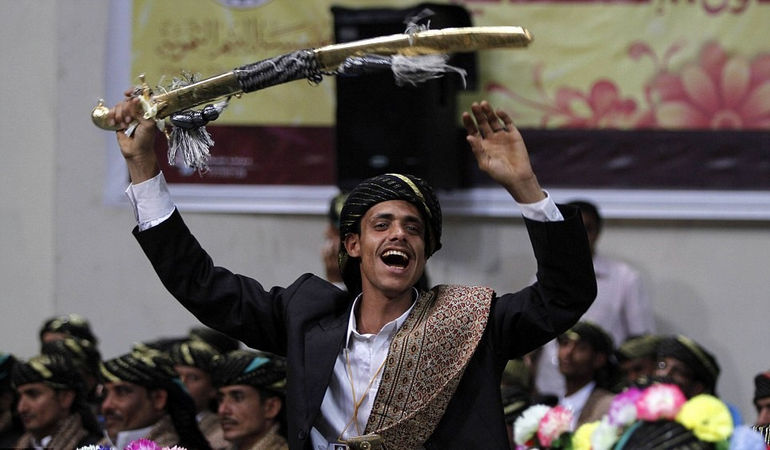 Самая большая коллективная свадьба в Йемене
