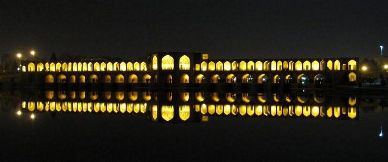 Мост Хаджу в Исфахане (Иран)