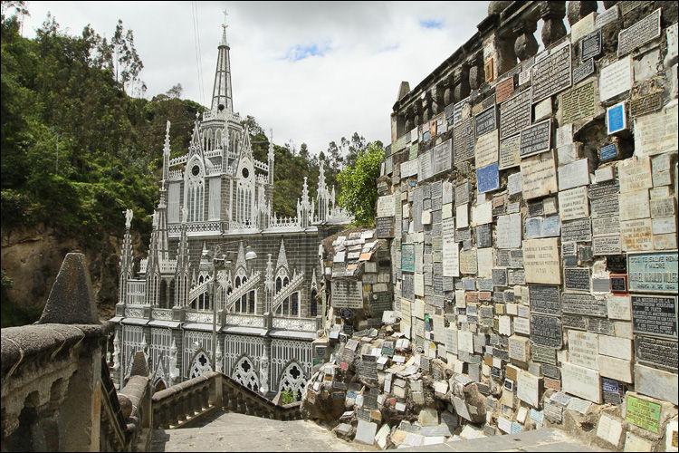 Columbia. Las Lajas Cathedral
