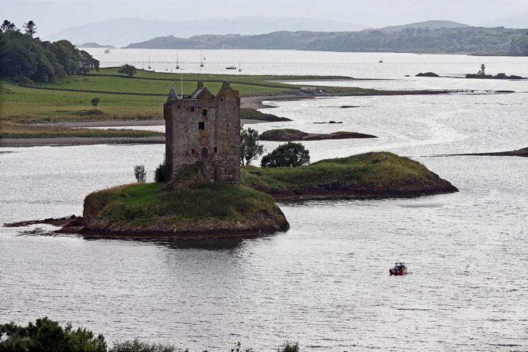 Castle Stalker, in the Scottish Highlands.