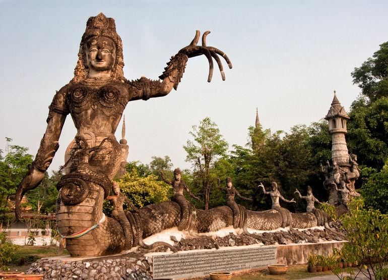 Serpent goddes in Sala Keoku. Nong Khai, Thailand, 2012