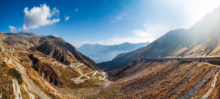 Исторический путь через Альпы: перевал Сен-Готард (Швейцария)