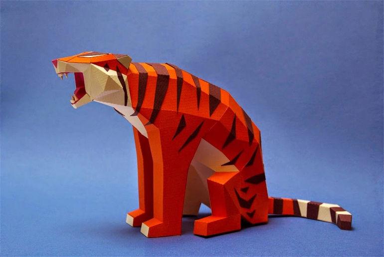 бумажные животные от Estudio Guardabosques