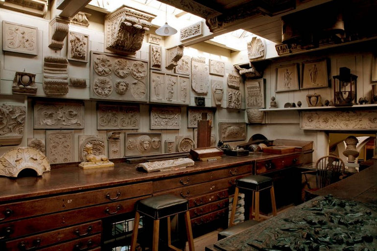 Sir John Soane Museum, Upper Drawing Office.