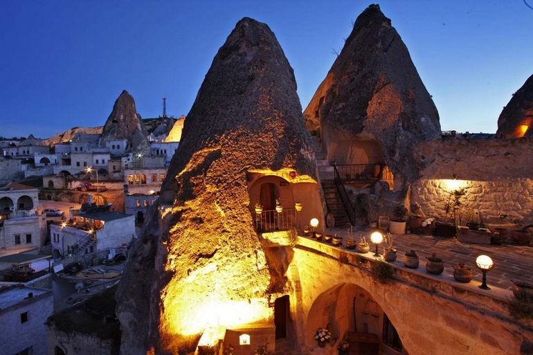 «Келебек Хотел»: пещера-отель с претензией на бизнес-класс (Турция)