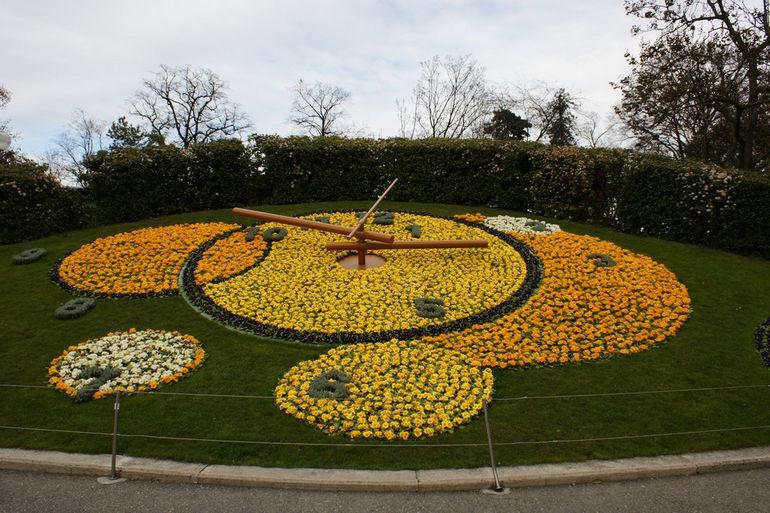 Женевские цветочные часы (Швейцария)