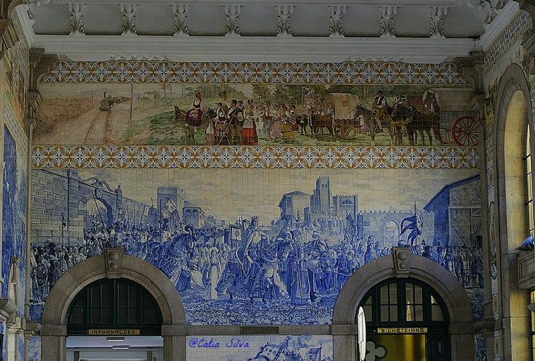 Вокзал Сан-Бенту в Порту (Португалия)