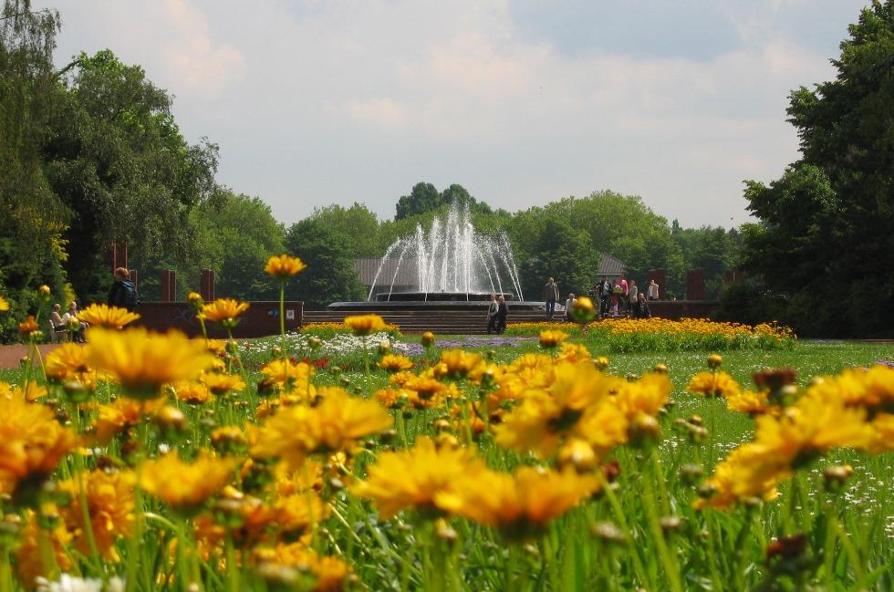 Nordpark_Düsseldorf_Springbrunnen
