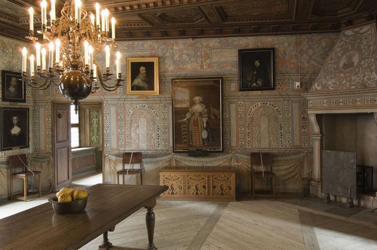 Furstinnan Marias sängkammare. Gripsholms slott. 11 oktober 2006