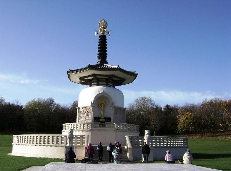 Admiring the Peace Pagoda