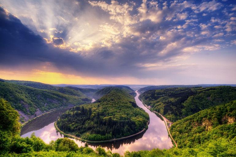 Петля реки Саар в Метлахе (Германия)