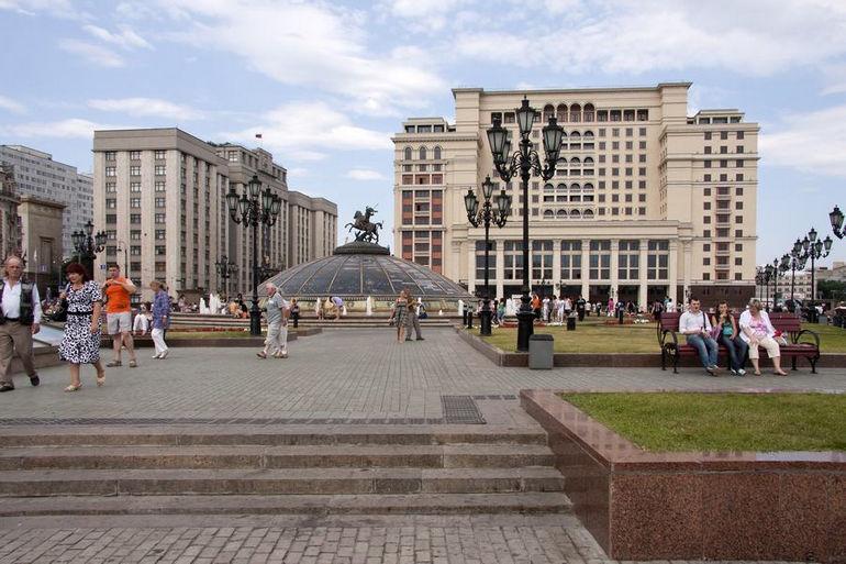 Манежная площадь в Москве (Россия)