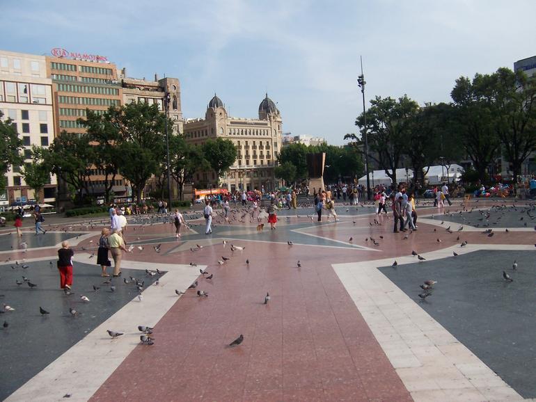 Площадь Каталонии в Барселоне (Испания)