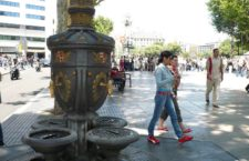 Фонтан Каналетес в Барселоне (Испания)