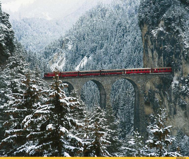 Ретийская железная дорога и Бернина Експрес (Швейцария)