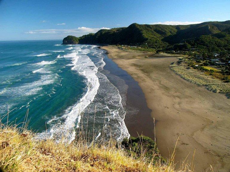 Пляж Пиха в Новой Зеландии