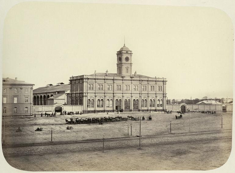 Ленинградский вокзал в Москве в 1860-х годах