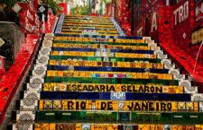 Лестница Селарона в Рио-де-Жанейро (Бразилия)
