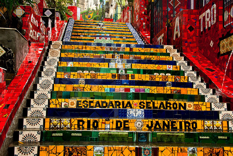 Лестница Селарона в Рио де Жанейро (Бразилия)
