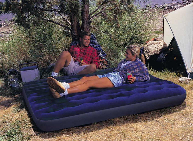 Надувная кровать – отличное решение для туризма