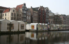 Bloemenmarket: цветочный рынок на воде в Амстердаме (Нидерланды)