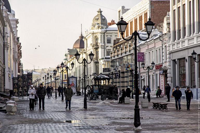 Пешеходная улица Баумана в Казани (Татарстан)