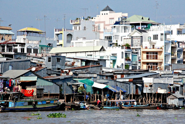 Город Тяудок во Вьетнаме