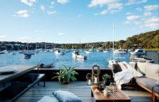 Современный плавучий дом в Сиднее