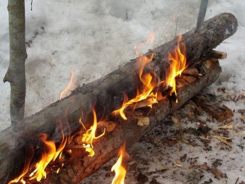 Виды костров для зимней стоянки