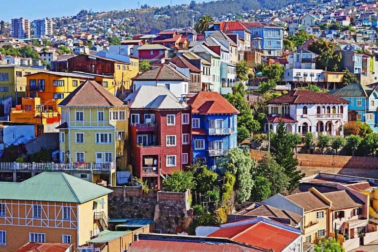 Чилийский городок Вальпараисо