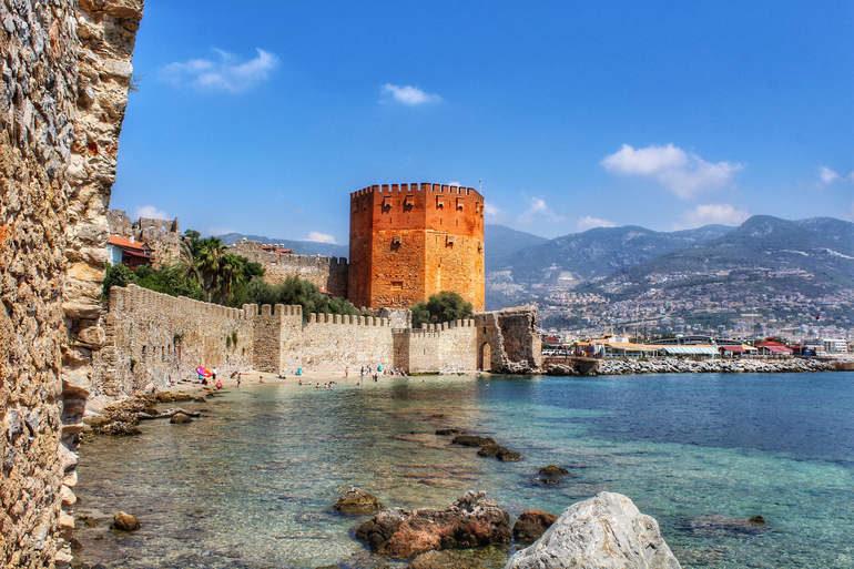 Крепость Alanya Kalesi в Алании (Турция)
