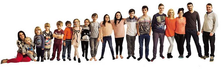 Редфордсы и их 20 детей: самая большая семья Британии в цифрах